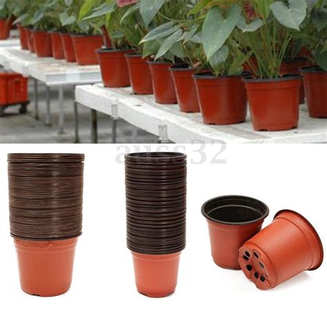pots for plants 50pcs plastic plant pots home garden nursery flowerpots 10