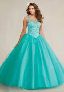 puffy mint green royal blue quinceanera dresses 2016 top