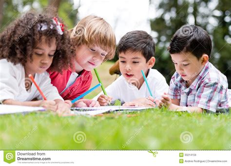 Royalty Free School Children Stock by Happy School Coloring Stock Image Image Of Outdoors