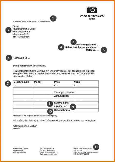 Rechnung Schreiben Muster Kleinunternehmen 12 pflichtangaben rechnung kleinunternehmer sponsorshipletterr