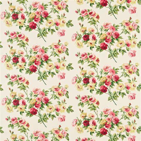 vintage pattern wallpaper uk eglantine fabric rose yellow dvipeg201 sanderson