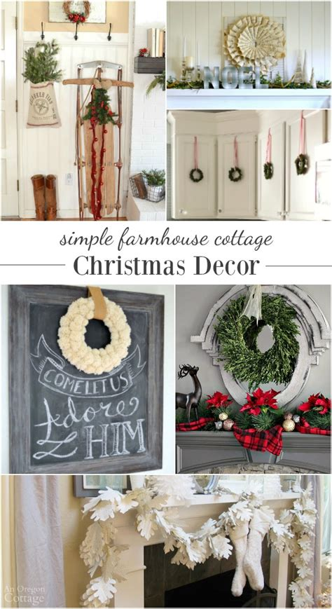great themes for christmas decorating simple farmhouse cottage decorating ideas