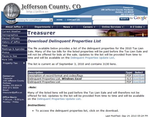 Tax Sale Homes by Property Tax Sale Lists Increasingly Available