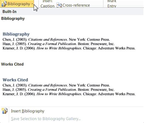 Creating A Bibliography by How To Automatically Create A Bibliography With Word 2010