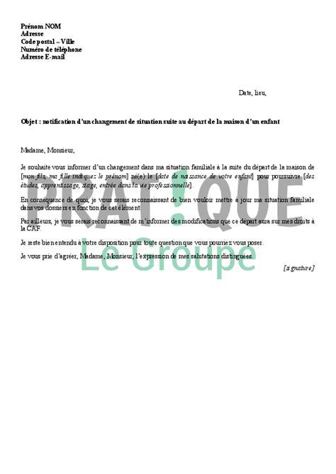 Exemple De Lettre Pour La Caf Lettre 224 La Caf D 233 Claration Du D 233 Part D Un Enfant Pratique Fr