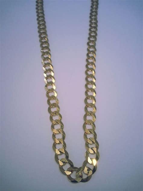 cadena de oro 7 gramos precio cadena tipo cubana oro 10k 60 cm largo 8 9 mm grosor