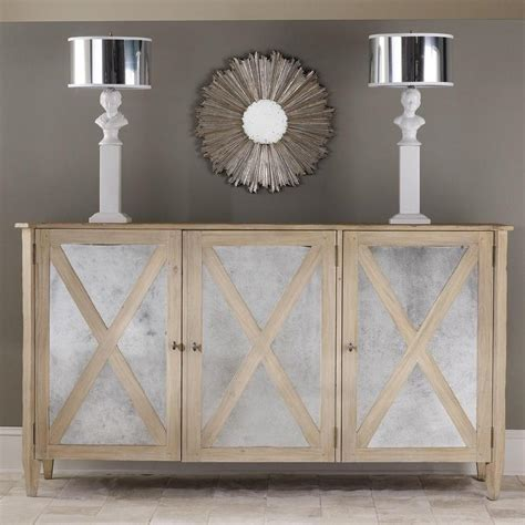 Mirrored Three Door Cabinet I Layla Grayce Mirrored Kitchen Cabinet Doors