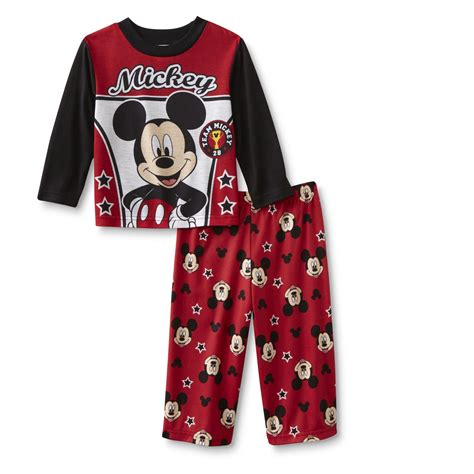disney mickey mouse infant toddler boy s pajamas team