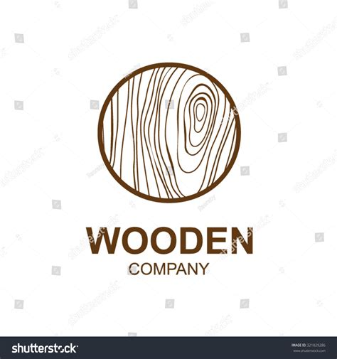 woodwork companies abstract letter o logo design template stock vector