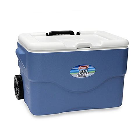 bed bath and beyond cooler coleman 174 50 quart wheeled party stacker cooler bed bath