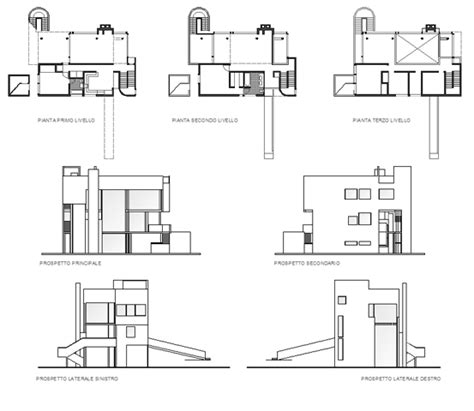 Schroder House Floor Plan by Smith House Richard Meier Plans House Design Plans
