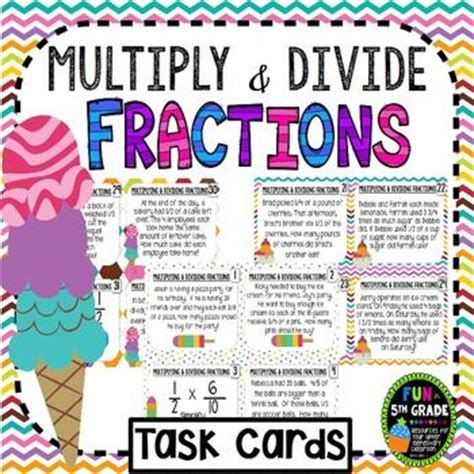 multiplying fractions using cards template multiply and divide fractions task cards common