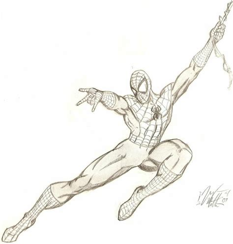 how to draw spiderman swinging spiderman drawings in pencil pencil drawing collection