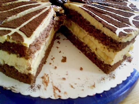 torten kuchen rezepte schoko bananen torte christinaambs chefkoch de