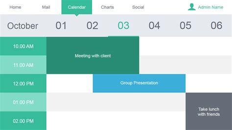 powerpoint template schedule calendar slide design for data dashboard slidemodel