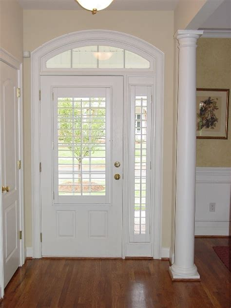 door coverings glass front door sidelight plantation shutter on sidelights this look