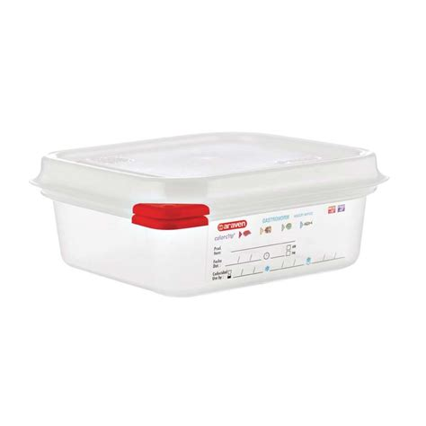 food storage containers airtight gn1 6 airtight food storage container lid 1100ml