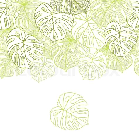 leaf pattern eps vector illustration leaves of palm tree seamless pattern