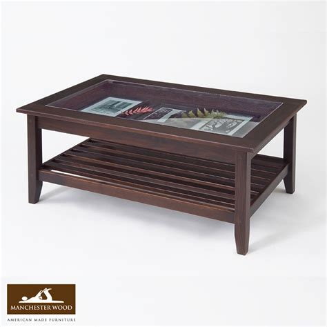 Coffee Table With Glass Top Display Glass Top Display Coffee Table Best Seller The Mill News Manchester Wood