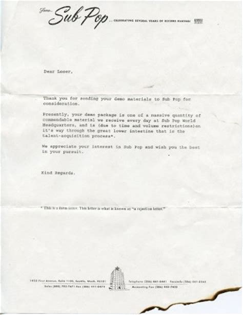 Rejection Letter Journal Sle Brutally Honest Rejection Letters You Wouldn T Like To Get