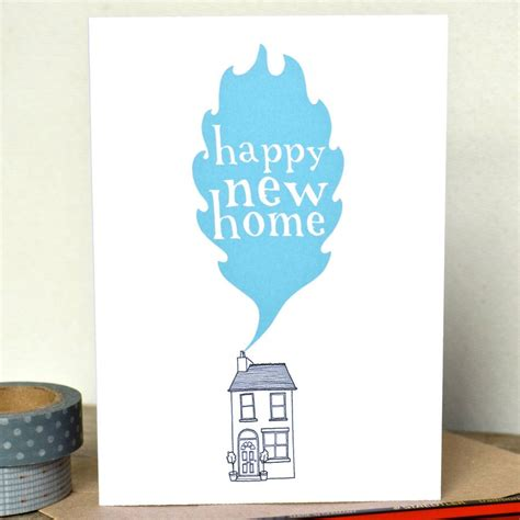 happy in your home happy new home card by becka griffin illustration