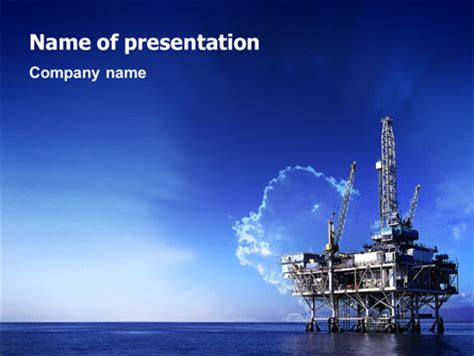 templates for oil and gas ppt drilling platform presentation template for powerpoint and