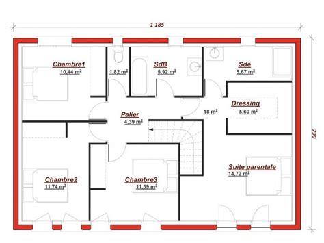 Plan Maison 5 Chambres Avec Etage by Plan De Maison 4 Chambres Avec Etage 4 De Maisons