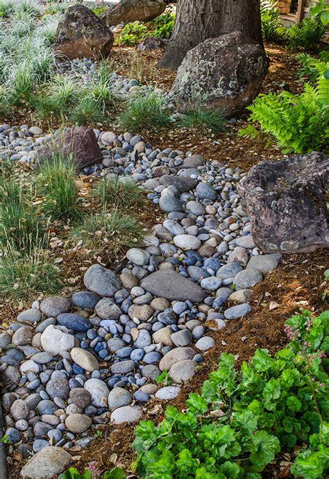 River Rock Garden River Rock Around Flower Beds American Hwy