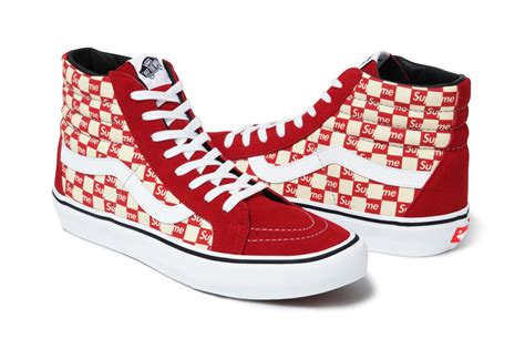 supreme x vans supreme x vans 2016 sk8 hi authentic fall collection