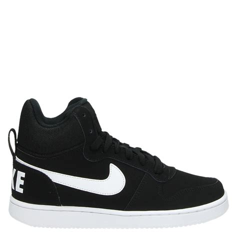 nike court borough mid hoge sneakers zwart