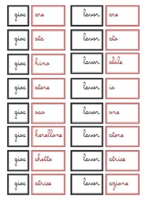 parole con diversi significati formazione delle parole e suffissi col metodo montessori