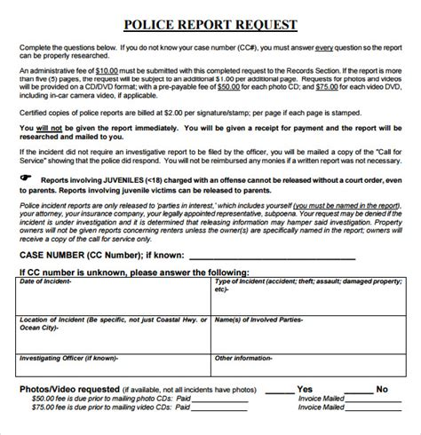 report request form template sle report 7 documents in word pdf