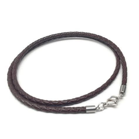 Ss Leather Necklaces 1 espresso leather necklace cord braided loralyn designs