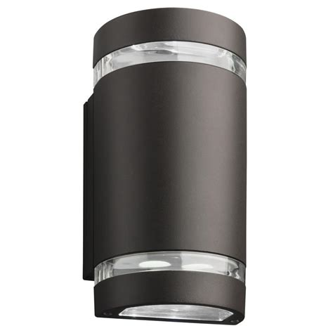 Outdoor Lighting Downlights Lithonia Lighting Wall Mount Outdoor Bronze Led Wall Cylinder Downlight Ollwu Ddb M6 The