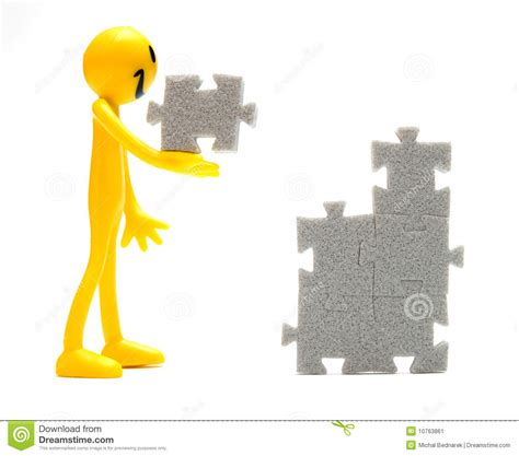 Put Together by Putting Pieces Together Stock Image Image 10763861
