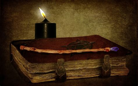 kerze wand horror occult witch candles book spell