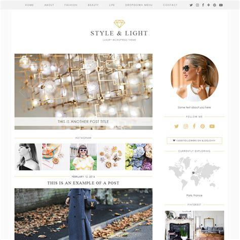 wordpress themes book style style light a luxury wordpress theme by pipdig