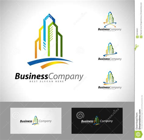 Ad Illustration Caricatures Real Estate Business Cards Templates by Real Estate Logo Design Stock Vector Illustration Of