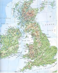 England On A Map by Maps Of England