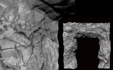tutorial zbrush rock making and preparing a rock arch for a game engine