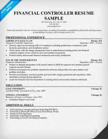 Finance Controller Sle Resume by Financial Controller Resume Education Career