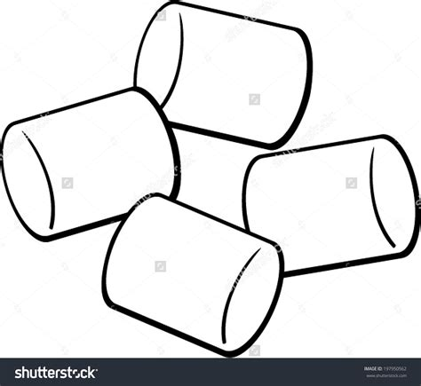 marshmallow clipart marshmellow clipart black and white pencil and in color