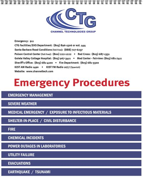 Emergency Preparedness Procedure Template Emergency Procedures Flip Charts Send Your Content We Do The Rest