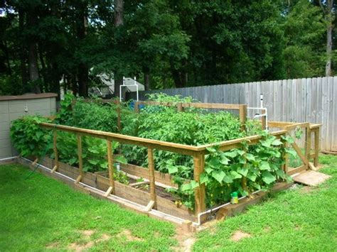 Raised Bed Vegetable Garden Gate And Fence Attached Right Raised Garden Fence Ideas