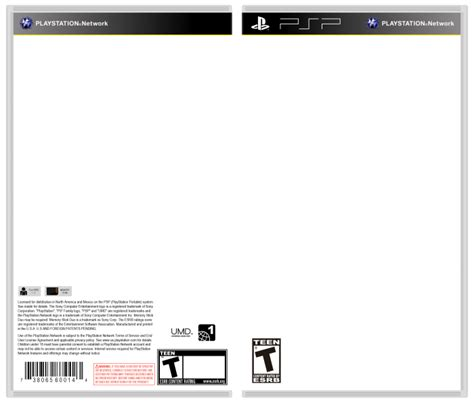 playstation portable template