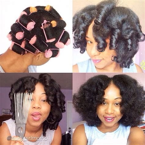 rolling ghopa hair style sponge rollers on natural hair natural hair pinterest