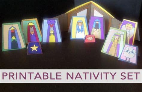 printable christmas nativity free printable nativity set