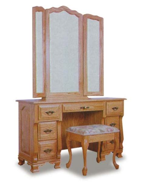 Vanity Dressers by Amish Vanity Dresser And Mirror From Wrap Around