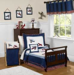vintage airplanes toddler boy comforter bedding 5pc bed in