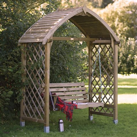 Barmouth Timber Swing Arbour   Departments   DIY at B&Q